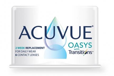 Двотижневі контактні лінзи Johnson&Johnson Acuvue Oasys with Transitions