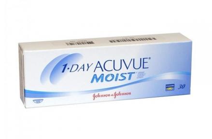 Контактні  лінзи 1-Day Acuvue Moist - 30 шт/уп.