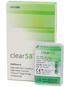 Контактні лінзи Clear 58 6 шт/уп